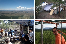 """The goal was trying to understand the chemistry associated with organic particulate matter in a forested environment,"" associate professor Jesse Kroll explains. ""We took a lot of measurements using state-of-the-art instruments we had developed."" The team also took many photos while in Colorado. Pictured on the bottom right is Douglas Day, CU researcher and organizer of the field campaign...."