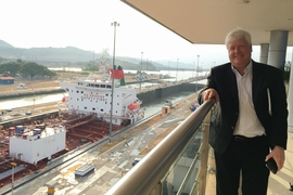 Professor Lee Gehrke at the Panamerican Dengue Meeting at the Panama Canal in April 2016.