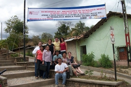 An MIT research training cohort in Ocotal, Nicaragua, with Anna Young (seated, far right).