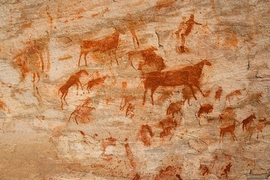 While the world's best-known cave art exists in France and Spain, examples of it abound throughout the world.