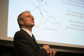 MIT professor of chemistry Richard Schrock delivers the annual Killian Lecture.