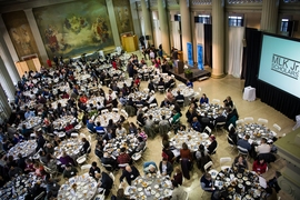 Members of the MIT community gathered at Morss Hall for the 44th annual Dr. Martin Luther King Jr. Celebration Luncheon.