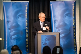 President L. Rafael Reif addressed the MLK luncheon attendees.