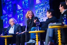 "MIT alum Megan Smith '86, SM '88, a former U.S. Chief Technology Officer and a former vice president at Google, said all school children should learn coding and design thinking. ""It's about confidence. Part of the future of work is including everyone in developing solutions."""