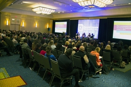 Around 350 people from the KSA's 175 industry and academic partners, and from the general public, attended the annual meeting, held at the Boston Marriot Cambridge.