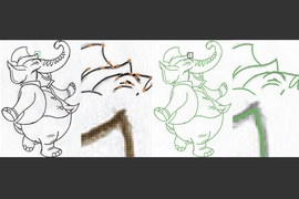 MIT researchers have developed an algorithm that traces intersections in sketches without error. This could save digital artists significant time and frustration when vectorizing an image for animation, marketing logos, and other applications.