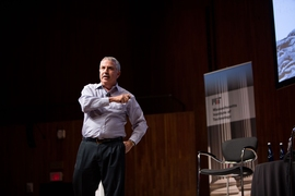 Columnist Thomas L. Friedman of The New York Times, delivering the Fall 2018 Compton Lecture at MIT, Monday, October 1, 2018.