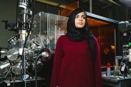 Takian Fakhrul, a fourth-year PhD student in MIT's Department of Materials Science and Engineering.