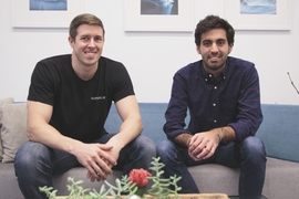 Humon co-founders Daniel Wiese, left, and Alessandro Babini