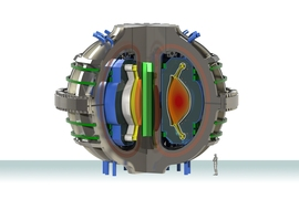 The ARC conceptual design for a compact, high magnetic field fusion power plant.  The design now incorporates innovations from the newly published research to handle heat exhaust from the plasma.