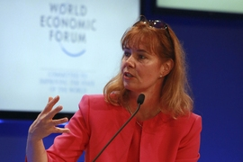Cadenza Innovation Founder and CEO Christina Lampe-Onnerud at the World Economic Forum's Annual Meeting of the New Champions