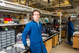 Jesse Hinricher, an MIT senior majoring in chemical engineering, has been conducting research focused on specialized batteries that could be plugged into the grid to provide renewable energy on demand.