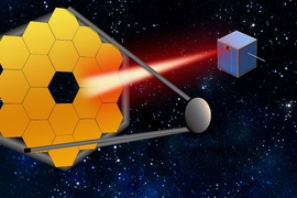 "In the coming decades, massive segmented space telescopes may be launched to peer even closer in on far-out exoplanets and their atmospheres. To keep these mega-scopes stable, MIT researchers say that small satellites can follow along, and act as ""guide stars,"" by pointing a laser back at a telescope to calibrate the system, to produce better, more accurate images of distant worlds."