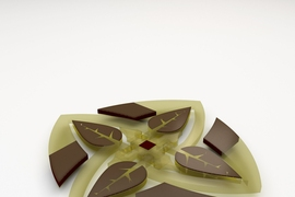 A new MIT-invented system automatically designs and 3-D prints complex robotic actuators optimized according to an enormous number of specifications, such as appearance and flexibility. To demonstrate the system, the researchers fabricated floating water lilies with petals equipped with arrays of actuators and hinges that fold up in response to magnetic fields run through conductive fluids.