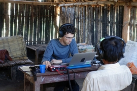 Nori Jacoby, a former MIT postdoc now at the Max Planck Institute for Empirical Aesthetics, runs an experiment with a member of the Tsimane' tribe, who have had little exposure to Western music.