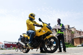 Nigerian mobility startup Max NG is trying to formalize the delivery and transportation industries of West Africa. Each of the company's mototaxi drivers go through extensive training on basic traffic rules, strategies for driving in inclement weather, and defensive driving tactics. They also must pass a background check, and every bike is tracked to deter crime and poor driving.