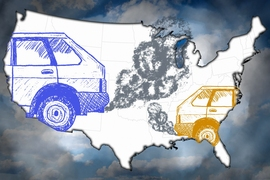New MIT study finds more than half of all air-quality-related early deaths in the United States are a result of cross-state pollution, or emissions originating outside of the state in which those deaths occur.
