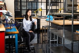 "Fusing art, science, and product design, senior Jierui Fang has followed — and sometimes created — her own path at MIT. ""I like the idea of having a job that involves design for people who are not traditionally served by design,"" she says."