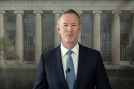 "Admiral William McRaven, retired U.S. Navy four-star admiral and former chancellor of the University of Texas system, delivered MIT's 2020 Commencement address. ""If we are going to save the world from pandemics, war, climate change, poverty, racism, extremism, intolerance, then you, the brilliant minds of MIT — you are going to have to save the world,"" he said."