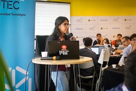 "In January, Chauhan traveled to Uruguay as part of a Global Startup Labs initiative, where she taught machine learning to masters students for a month. ""It's been one of the most fulfilling things I've done,"" she said of her teaching experiences. ""It's a way to interact with people and help them feel more empowered to take control of their future."""