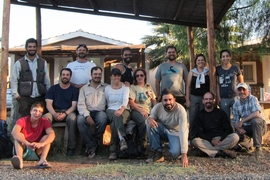 The field crew of researchers from Argentina, Brazil, and United States, in the town of Villa Unión, La Rioja Province, Argentina