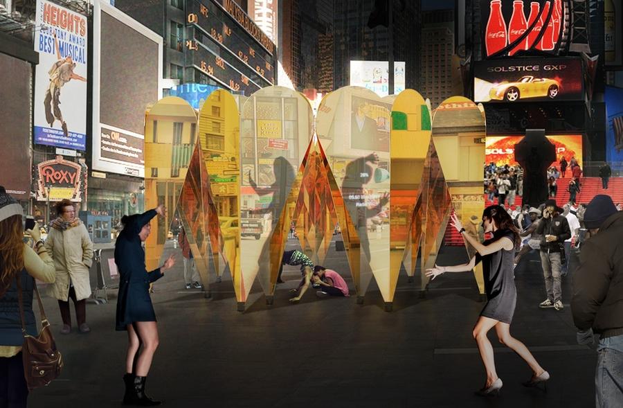 Andy Golub Times Square 2013: Body Artist Draws Crowd For