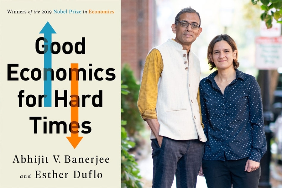 """MIT economists Abhijit Banerjee and Esther Duflo and their new book, """"Good Economics for Hard Times."""""""