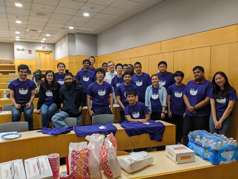a group of science bowl officers and volunteers