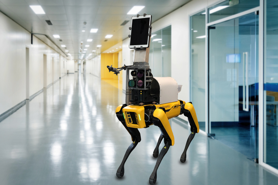 spot robot with vital sign attachment