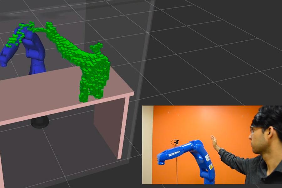 demonstration of motion planning robot