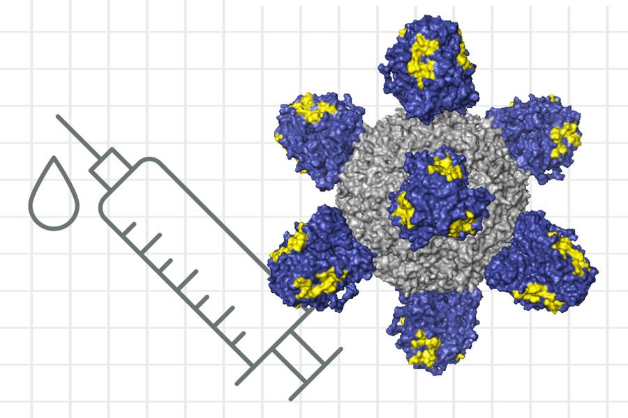 flu vaccine molecule concept