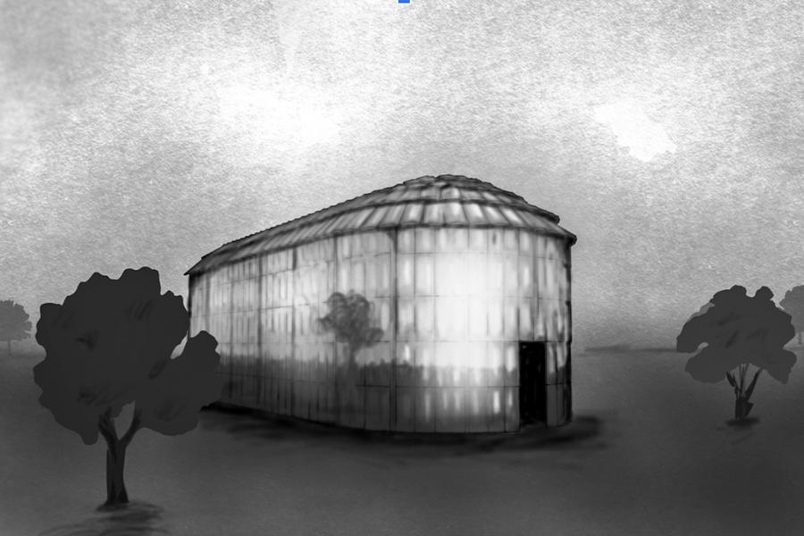 Image of a virtual Haudenosaunee longhouse