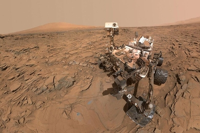 A self-portrait of NASA's Curiosity Mars rover.