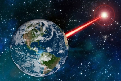 An MIT study proposes that laser technology on Earth could emit a beacon strong enough to attract attention from as far as 20,000 light years away.