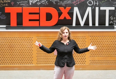 MIT Professor Daniela Rus, director of the Computer Science and Artificial Intelligence Laboratory, kicked off an all-female lineup of speakers at TEDxMIT.