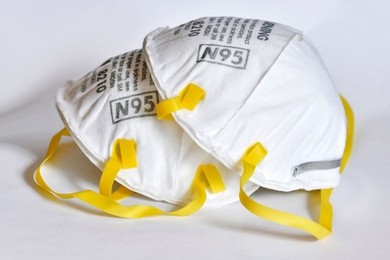 Lincoln Laboratory is testing uncertified N95s, KN95s, and respirator mask material to check the masks' effectiveness in filtering particles and resisting seepage from blood spatter.